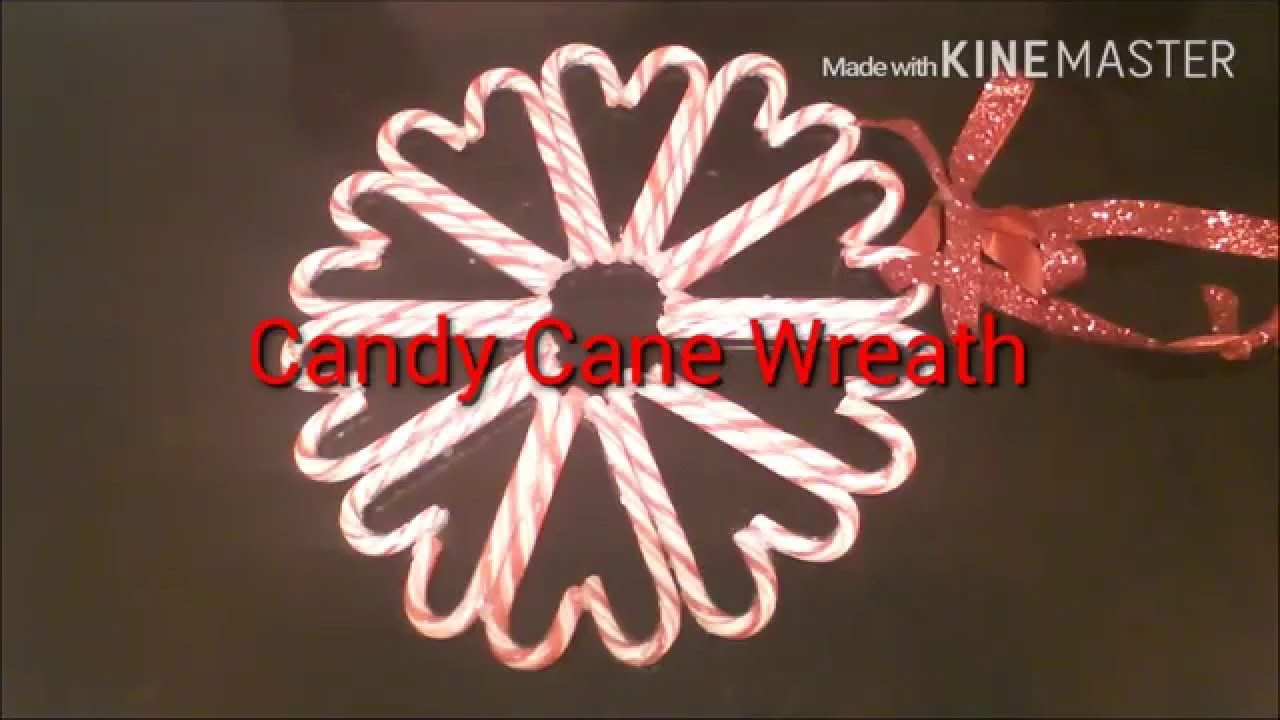 DIY. CANDY CANE WREATH 2015