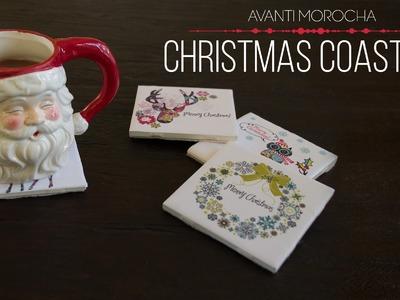 DIY Christmas Coasters. Portavasos Navideños  ft. GraphicStock
