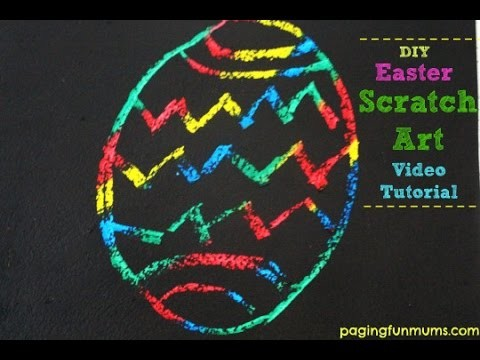 DIY Easter Scratch Art!