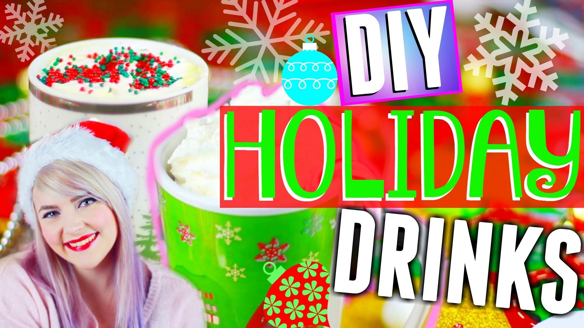 DIY: Holiday Drinks! Sugar Cookie Hot Chocolate + Candy Cane Milkshake!
