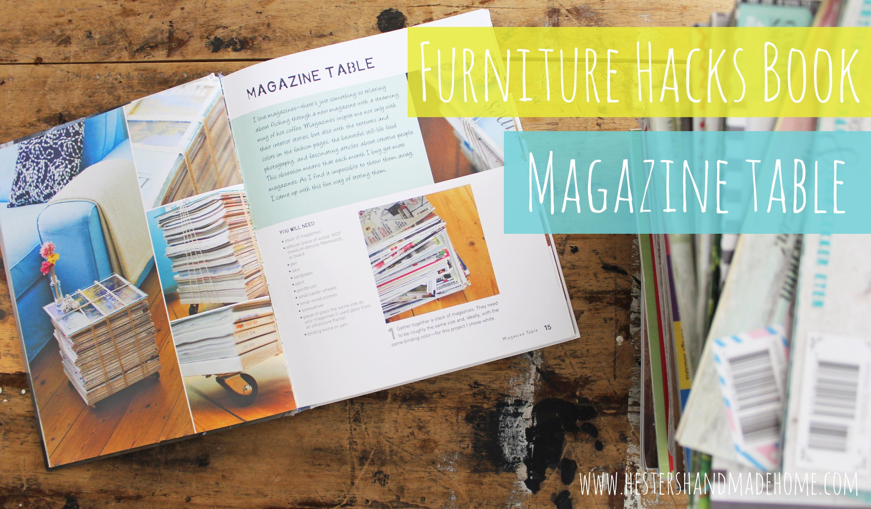 DIY How to make a Magazine Table with Hester van Overbeek