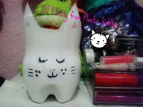 DIY Kitty From A Plastic Bottle