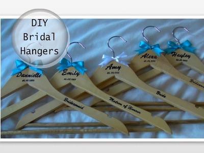 DIY: Personalised Wedding Bridal Hangers