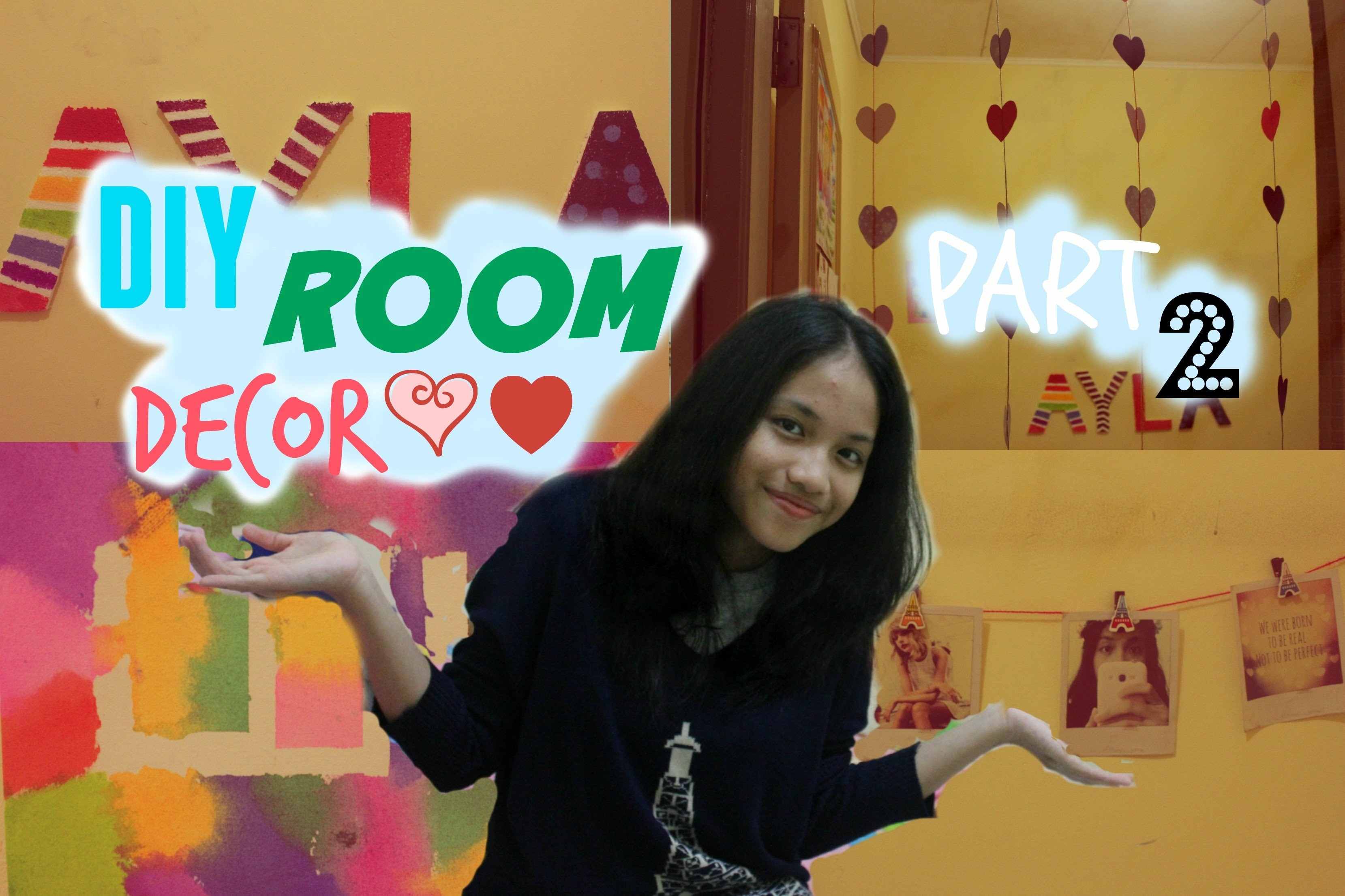 DIY Room Decor 2015 Part 2 - Wall Decorations|Just Ayla