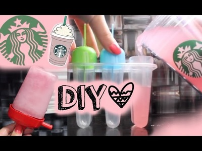 DIY: Starbucks Ice-Pops!!
