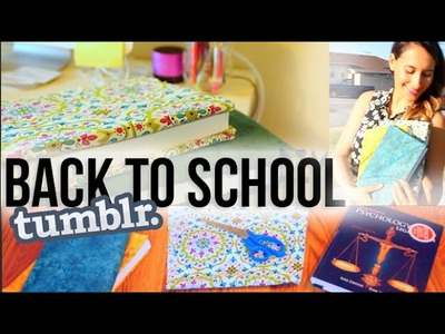 DIY Tumblr Inspired School Hacks (Book Covers) | itsLyndsayRae