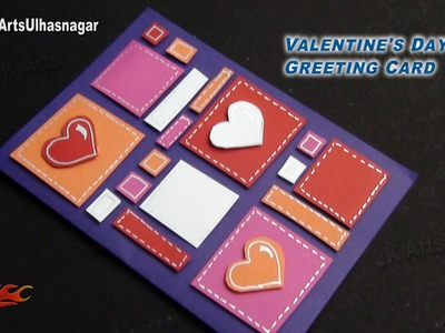 DIY Valentine's Day Heart Greeting Card | How to make | JK Arts 859