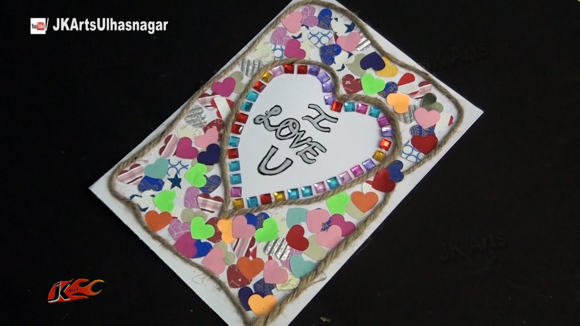 DIY Valentine's Day Heart Greeting Card   How to make   JK Arts 856