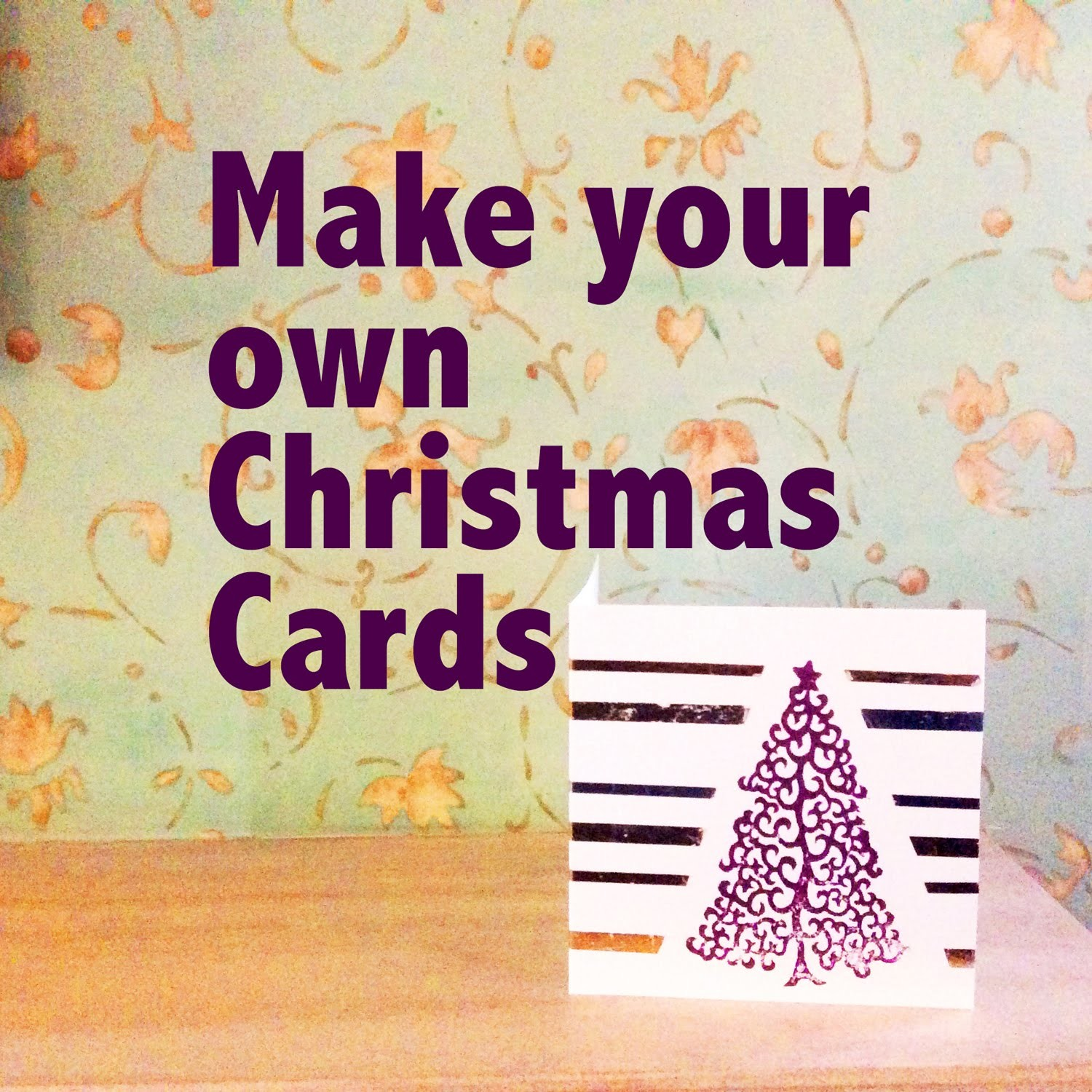 Handmade card making ideas combing foil art with block printing