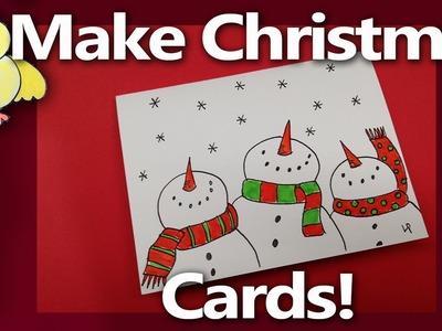 Let's Make some Easy Handmade Christmas Cards!  - From Livestream #2