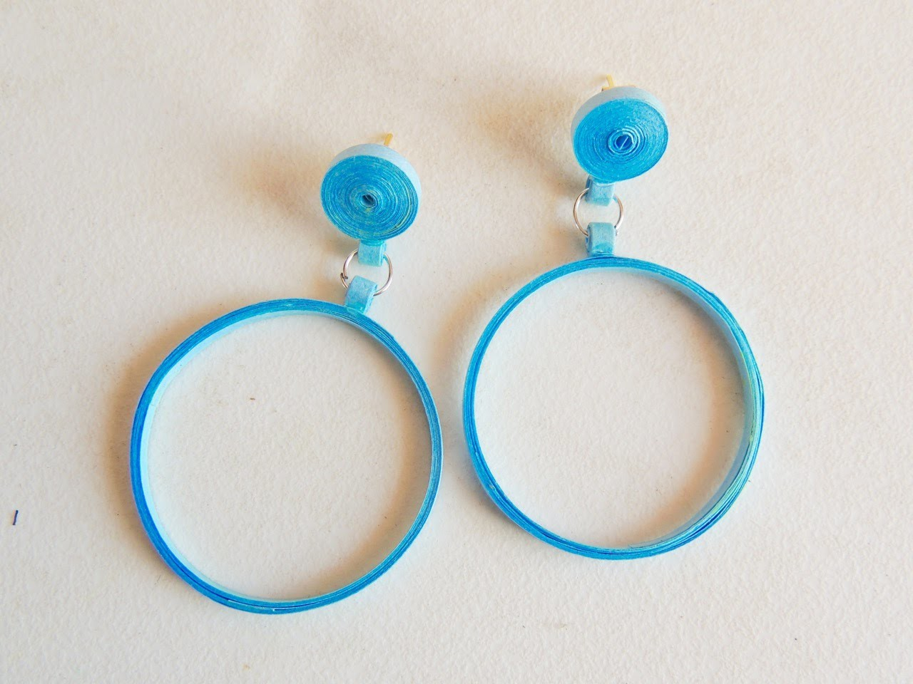 Quilling Ball hoop Earring - DIY