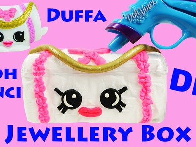 SHOPKINS DIY Doh Vinci Duffa Jewellery Box Storage Ballet Stick On Earrings Ring Set Craft Toys