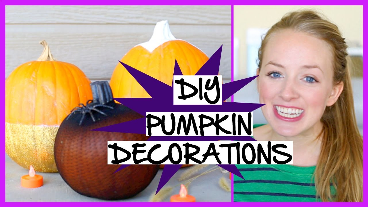 3 NO CARVE DIY Pumpkin Decorations