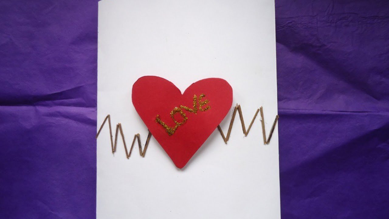 Create a Pretty Heart Beat Valentine Card - DIY Crafts - Guidecentral