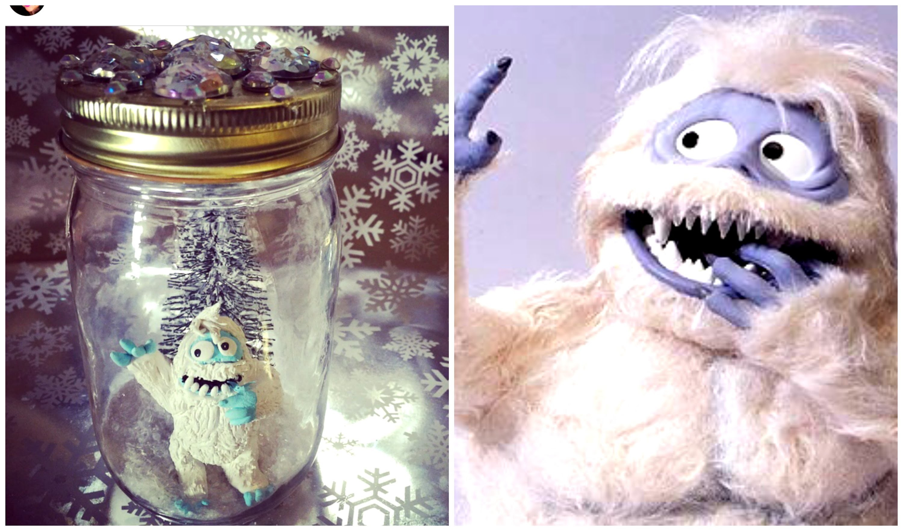 DIY ABOMINABLE SNOWMAN IN A JAR