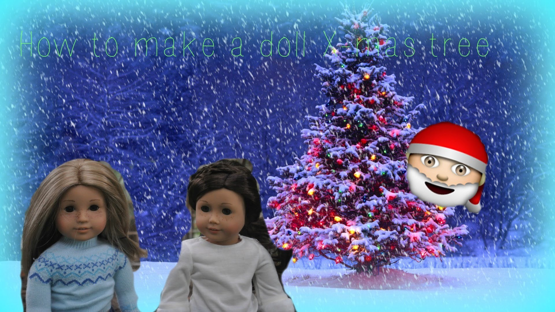 DIY AG Doll Christmas tree! | Part 2 of american girl Christmas series