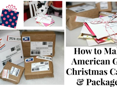 DIY American Girl Christmas Cards and Packages