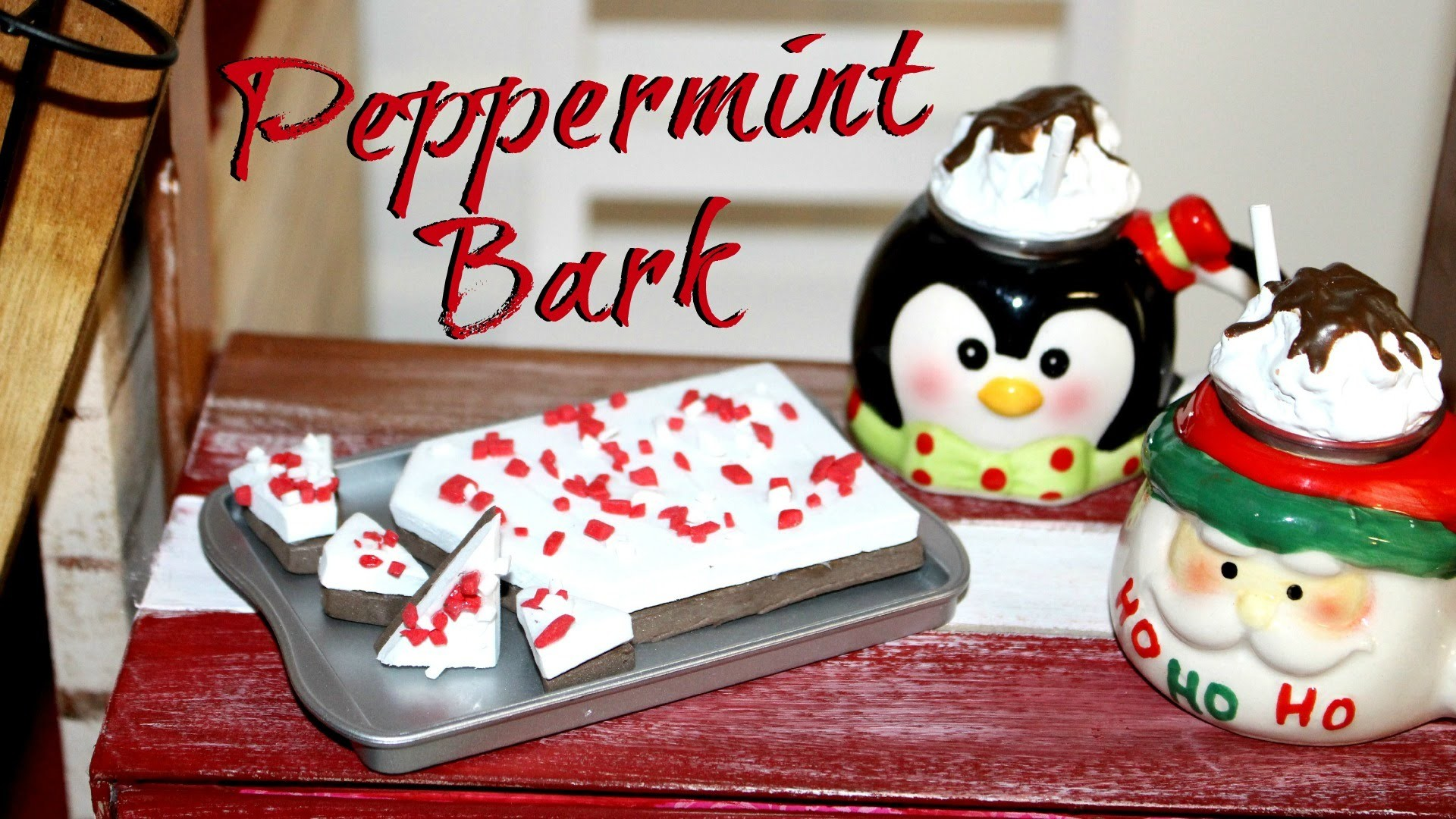 DIY American Girl Peppermint Bark