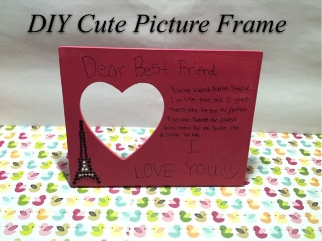 DIY Cute Picture Frame