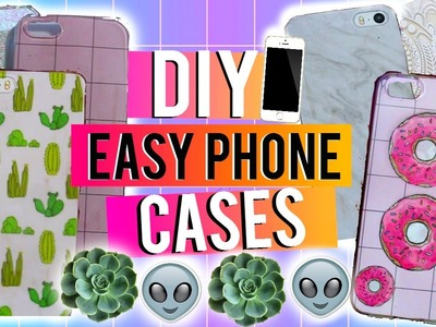 DIY Easy Phone Cases ♡ Tumblr, Glitter, Donut, Marble & More!