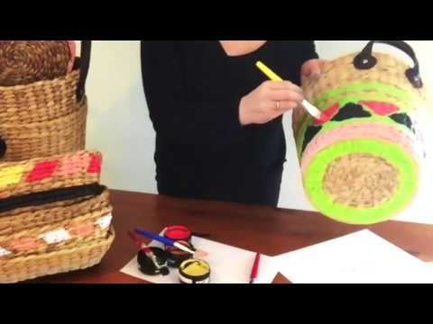 DIY Hand Painted Baskets in a flash
