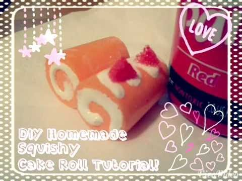 ✩ DIY Homemade Super-Squishy Mini Cake Roll ✩