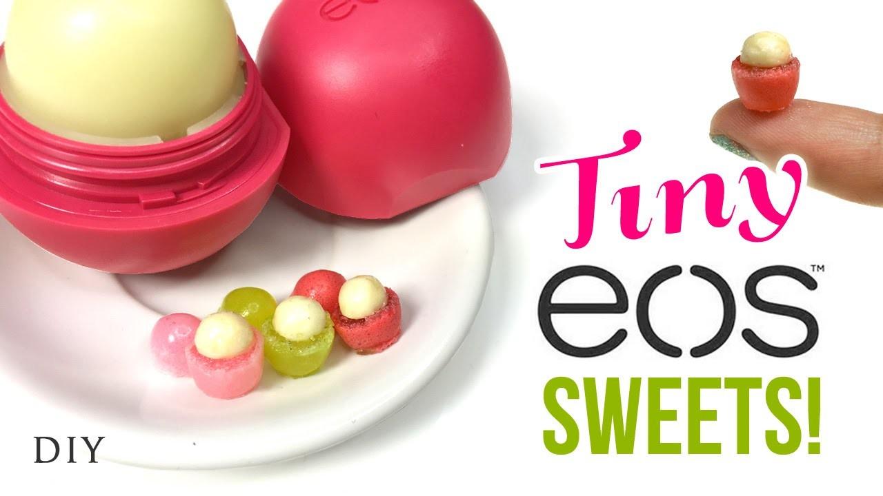DIY Miniature EOS Lip Balm!! Make EDIBLE Dollhouse Sweets!