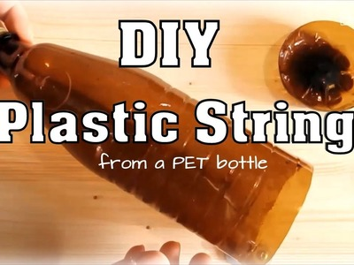 DIY Plastic String (from a PET bottle) - *Upcycling* using a pencil sharpener *How-To*