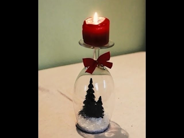 DIY snowglobe.candle holder. svietnik.