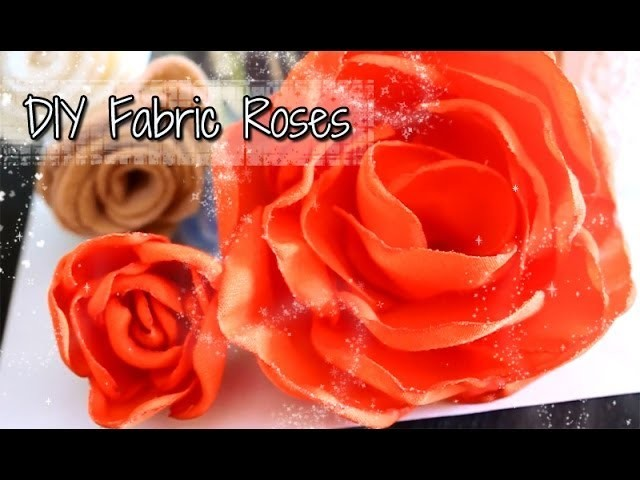 DIY Super Easy Fabric Roses