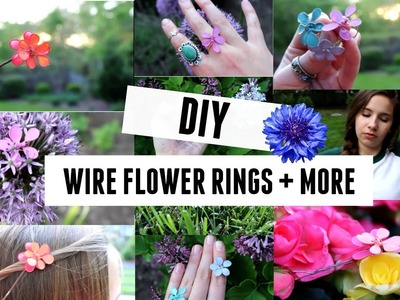 DIY Wire Flower Rings ❁