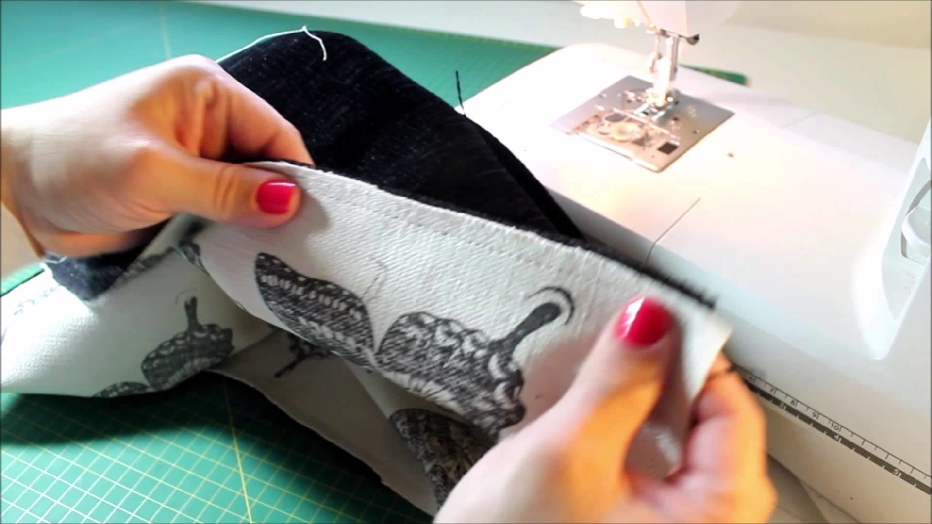 How to sew easy cushion covers  ( Swallowtail  Stampin Up)