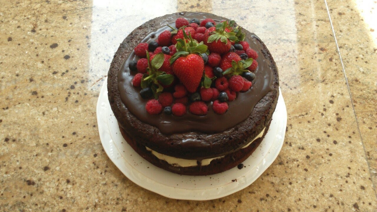 Make a Chocolate Naked Cake with Summer Berries - DIY Food & Drinks - Guidecentral