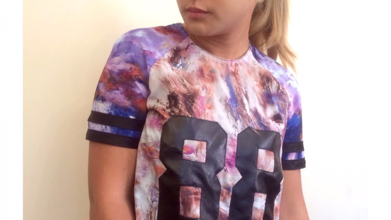 Make an American Sports-Style Tshirt Dress - DIY Style - Guidecentral