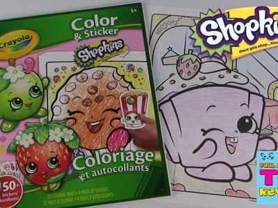 Shopkins Crayola Coloring Page | Cupcake Chic DIY | Color With Paul| PSToyReviews