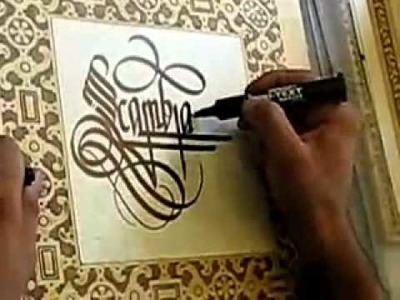 Calligraphy like you've never seen before!