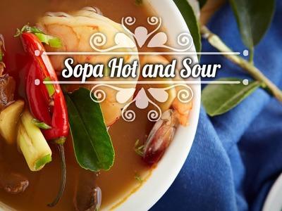 Chef Oropeza Receta: Sopa Hot and Sour