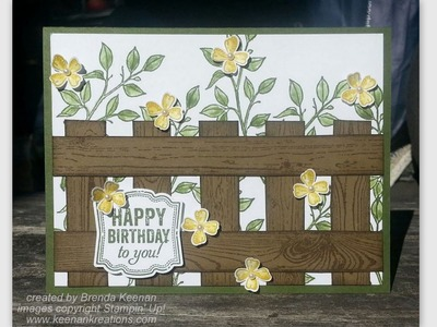 Create a fence background for your greeting card