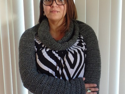 #Crochet Easy Long Sleeve Infinity Scarf Bolero #TUTORIAL