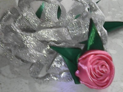DIY-cara membuat bunga dari pita-how to make flowers from ribbon