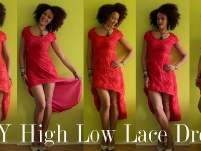 DIY High Low Lace Dress | Freestyle Sewing