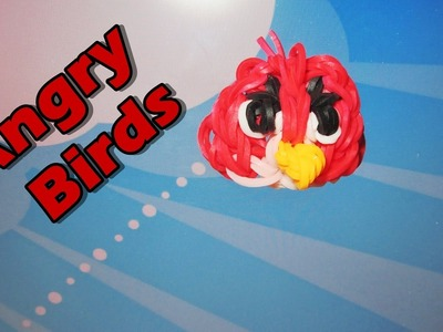 Easy Rainbow Loom ANGRY BIRDS Charm (Red Bird)
