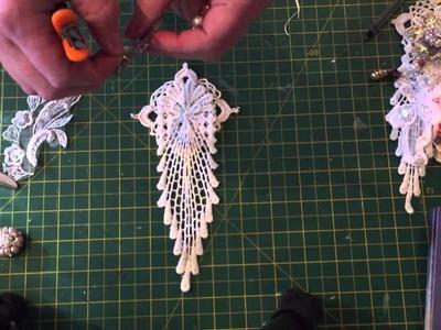 Elegant lace embellishment tutorial