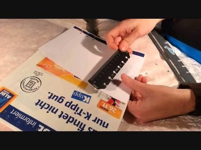 Filofaxiness - Tips and Tricks: How to Punch Holes in your Inserts without a Hole Punch.wmv