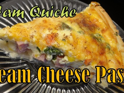 Ham & Cheese Quiche with Cream Cheese Pastry Crust - with yoyomax12