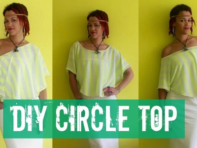 How-to DIY Circle Top in 7 Min | DIY Clothes