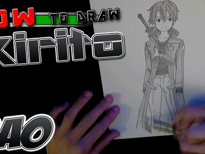 How to draw Kirito from SAO
