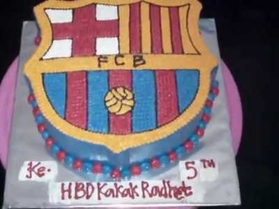 How to Easy Make Emblem FCB Cake