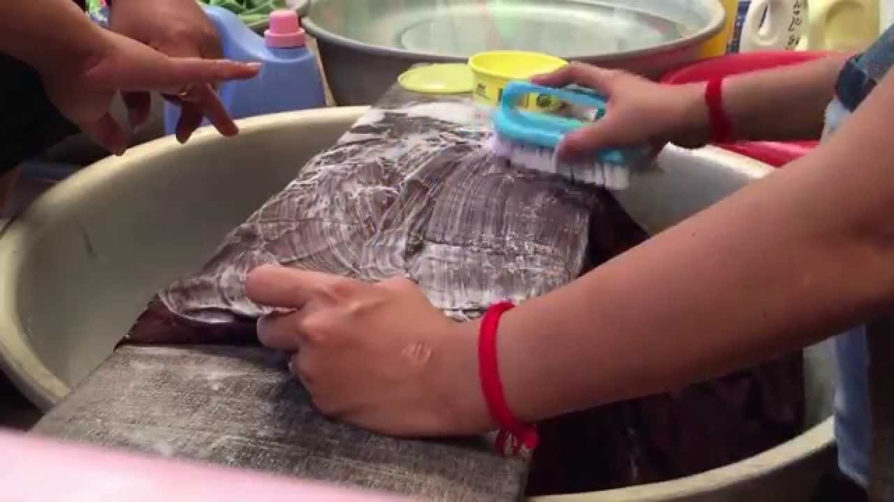 How to wash the Khmer lady traditional clothes | traditional khmer lady clothes cleaning - 4