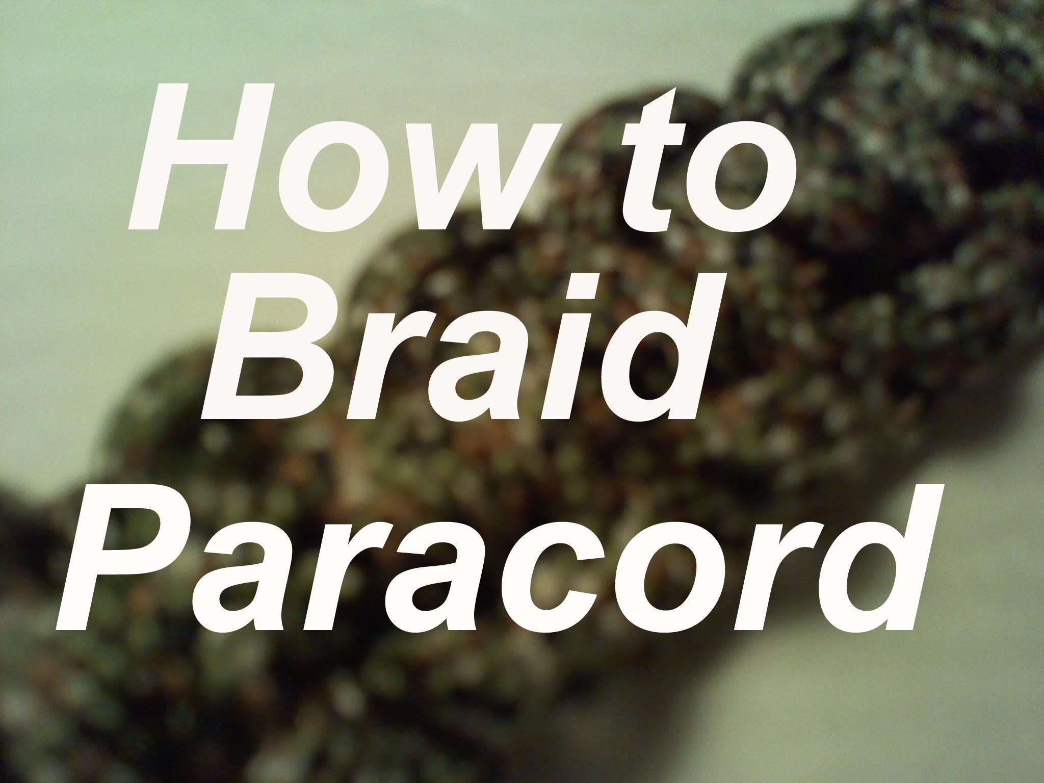 How to Weave.Braid Paracord into Bracelets, Keychains, Lanyards, extra